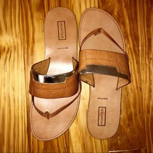 Hunter Brand Leather Sandals